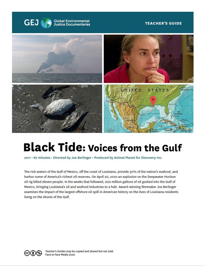 Teachers guide for Black Tide