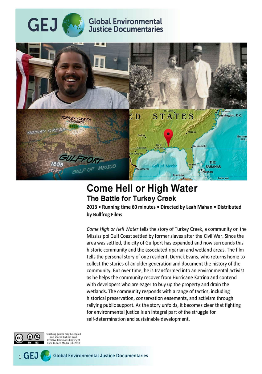 Teachers guide for Come Hell or High Water