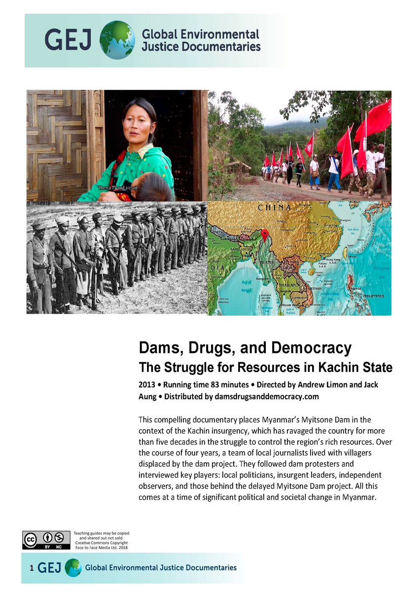 Teachers guide for Dams Drugs Democracy