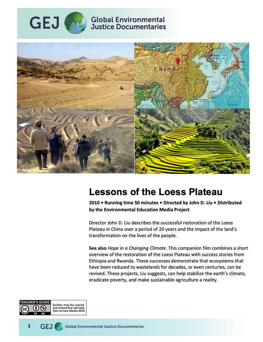 Lessons of the Loess Plateau